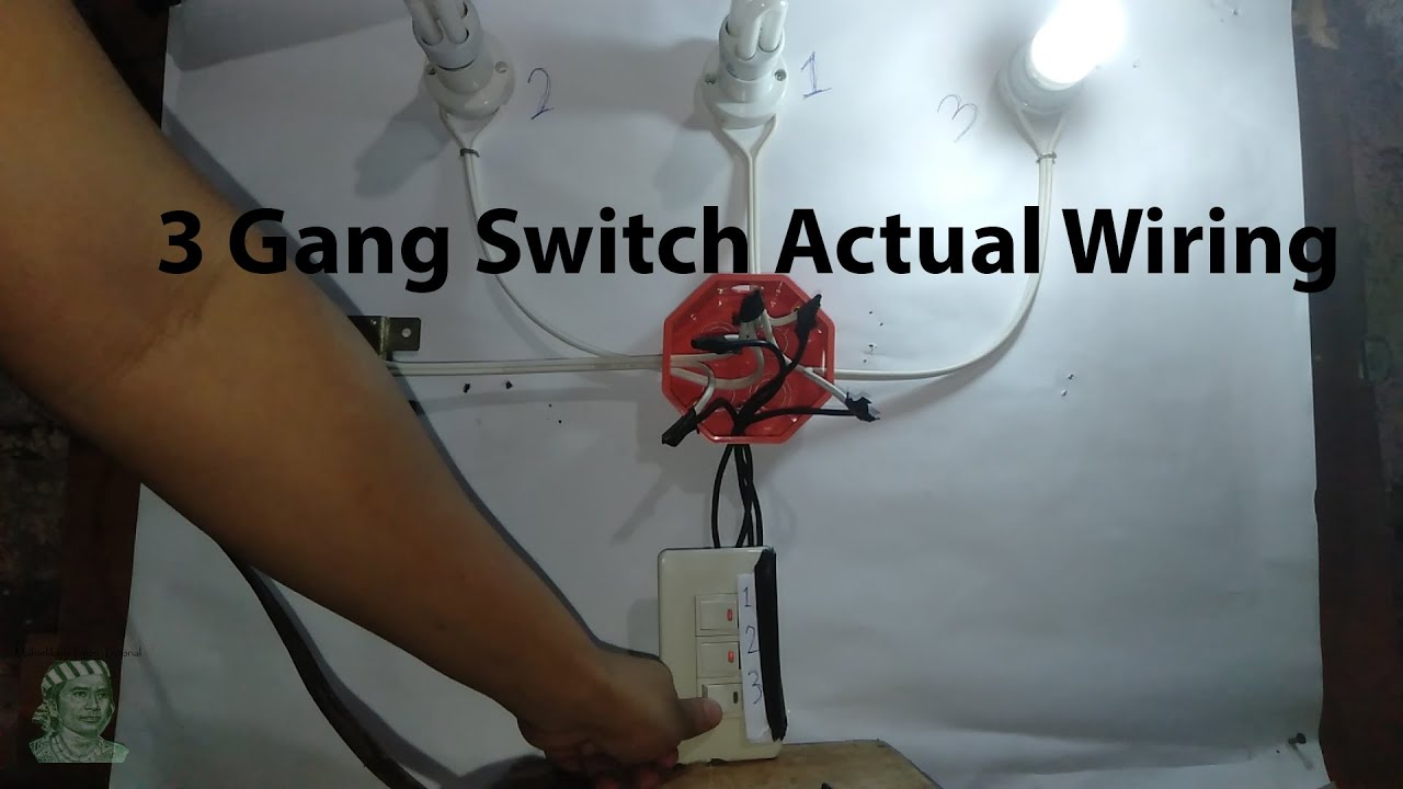 3 Gang Switch Wiring  Actual   Tagalog