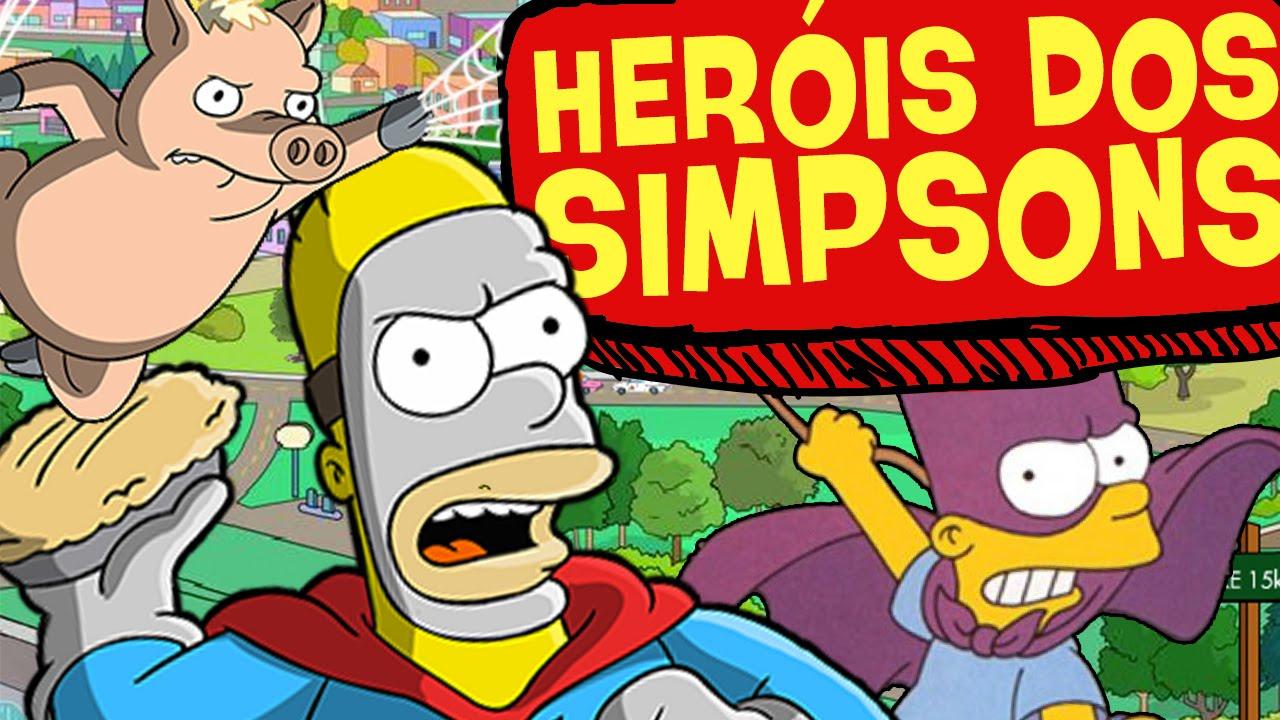 5 SUPER-HERÓIS DOS SIMPSONS!