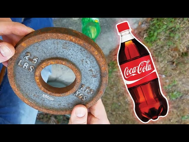 Can Coke Remove Rust From Iron Weights?  - YouTube