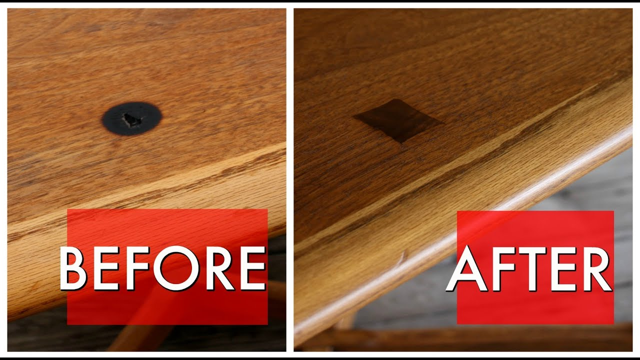 Mid Century Table Veneer Repair Youtube