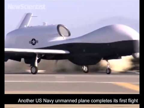 Pilotless jet lands on ship