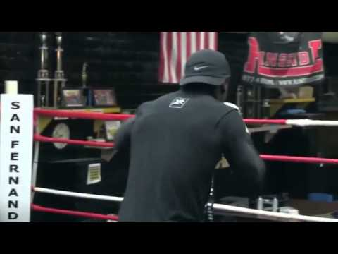 Andre Berto   Pre fight interview at San Fernando Boxing gym