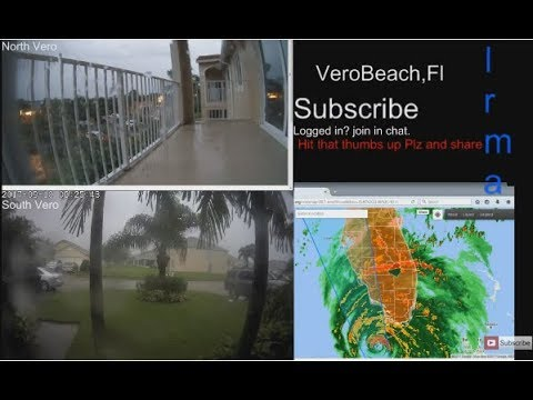 LIVE: Hurricane Irma 9/10 VeroBeach Florida, VIDEO footage