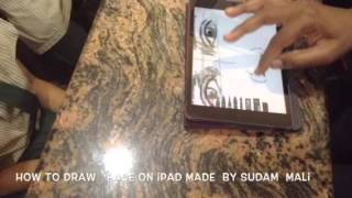 How to draw face on iPad made by sudam mali