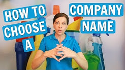 How Do I Choose A Company Name For My Cleaning Business?
