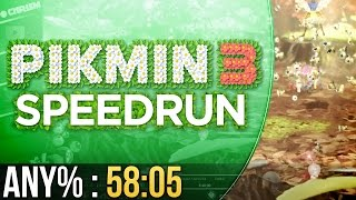 Pikmin 3 Any% Speedrun in 58:05