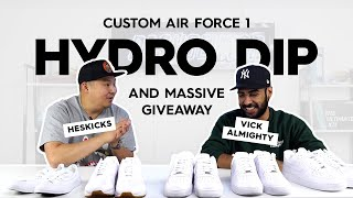 Vick Almighty HYDRO Dipping Air Force 1's with HesKicks (Massive Giveaway)