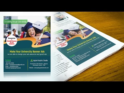 Ad Design for Newspaper | Best Magazine Ads | Photoshop Tutorial