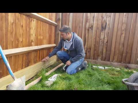 How to Build A Wooden Sleeper Raised Bed – Part 1