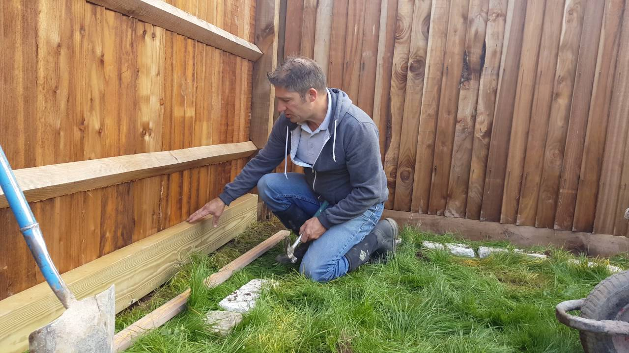 Using Railway Sleepers For Raised Vegetable Beds How To Build A Wooden Sleeper Raised Bed Part 1