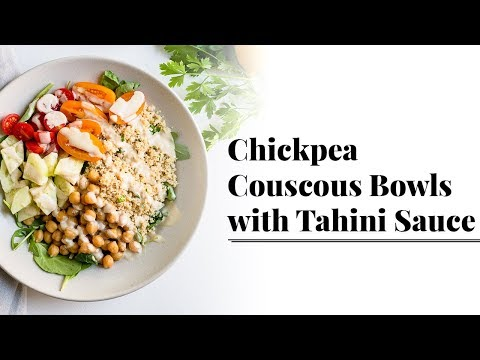 Chickpea Couscous Bowls with Tahini Sauce