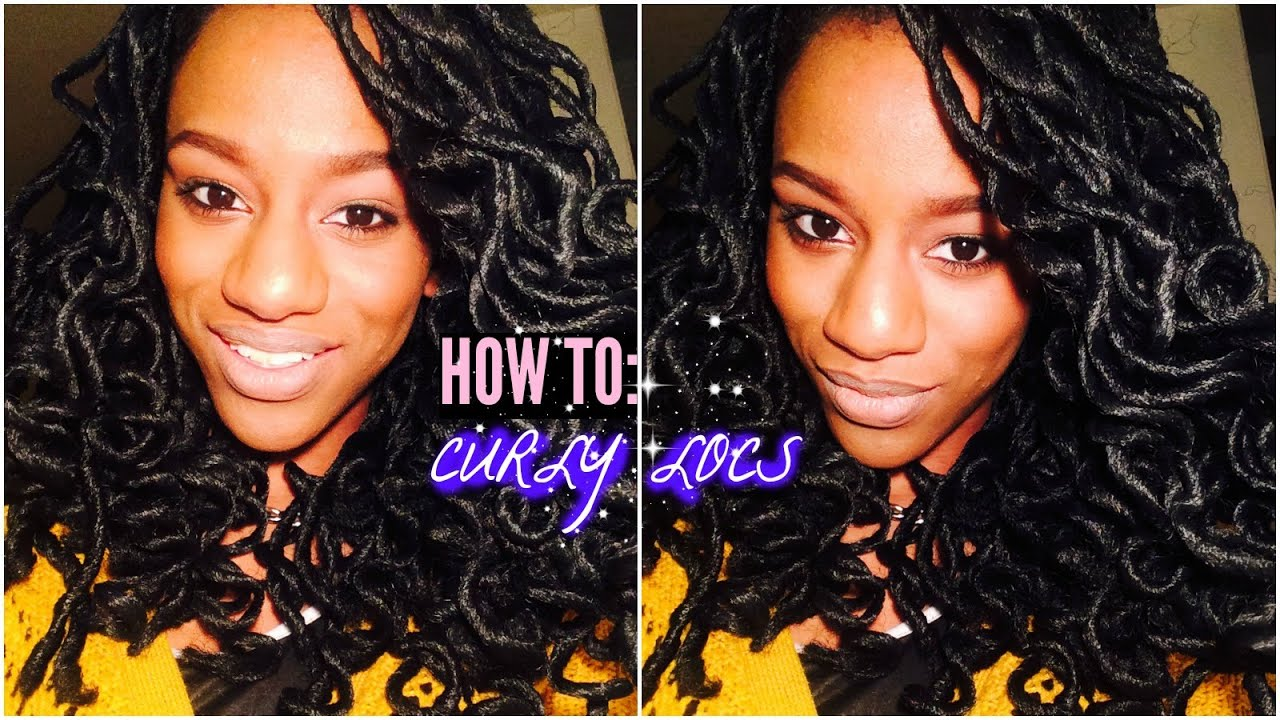 How To Curl Faux Dreads Loc Extensions Crochet Braids Youtube