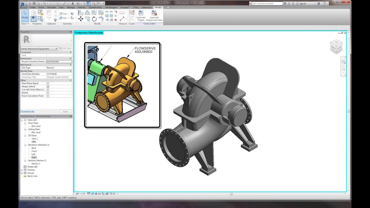 Revit Pump Creation Time Lapse - Part 1