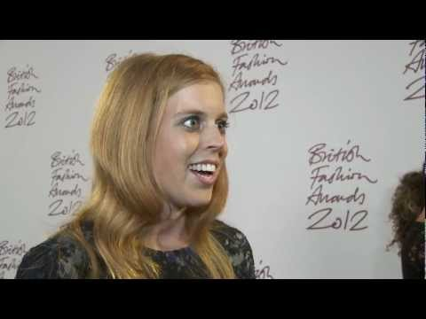 British Fashion Awards 2012, Princess Beatrice Interview