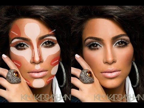 How To Highlight and Coutour Face With POWDER Makeup,KIM K ...
