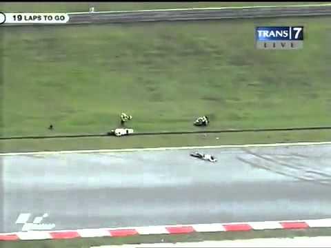 Marco Simoncelli Crash Death MotoGP Sepang 2011.flv