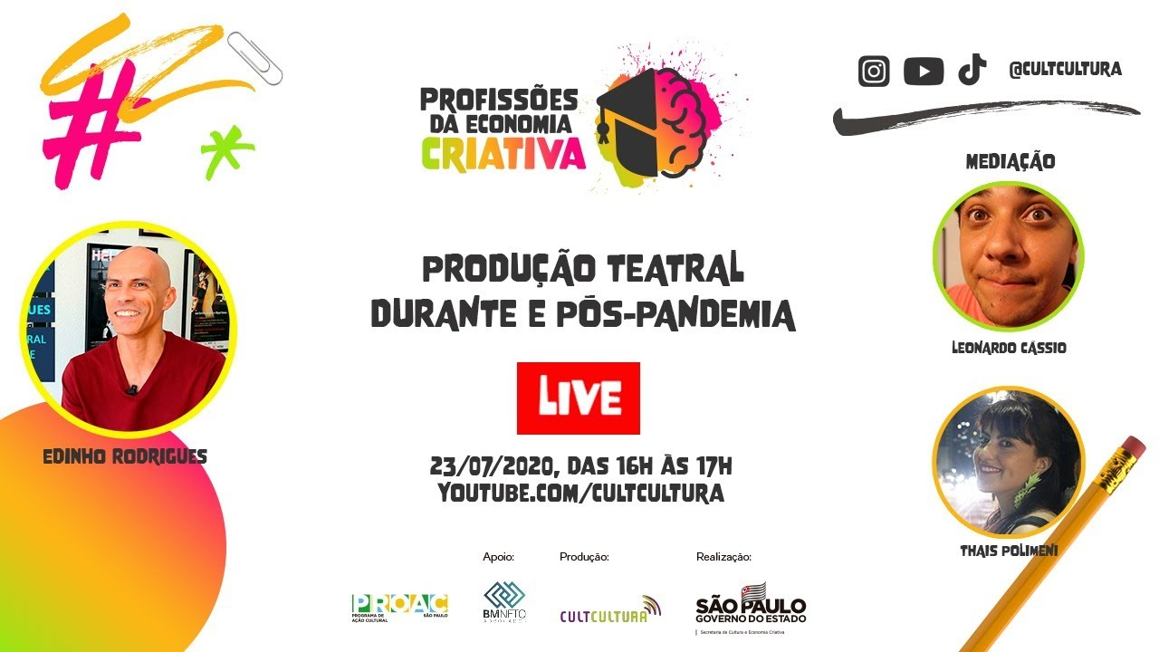 Teatro antes, durante e pós-pandemia, com Edinho Rodrigues