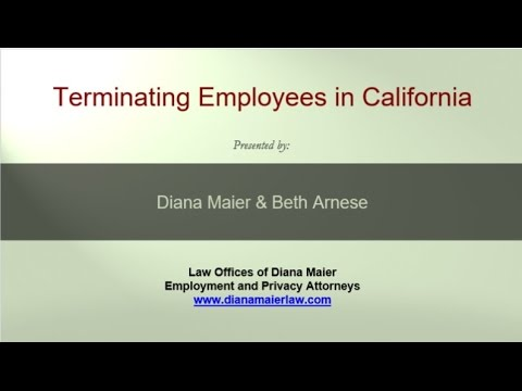 Lunchtime Legal Chat 4: Terminating Employees in California, March 22, 2016