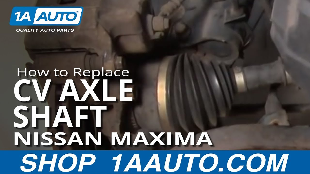 how to install replace worn ripped rh cv joint axle 2002-03 nissan maxima infiniti i30