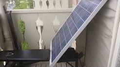 Renewable Apartment - Solar Panels in an apartment!