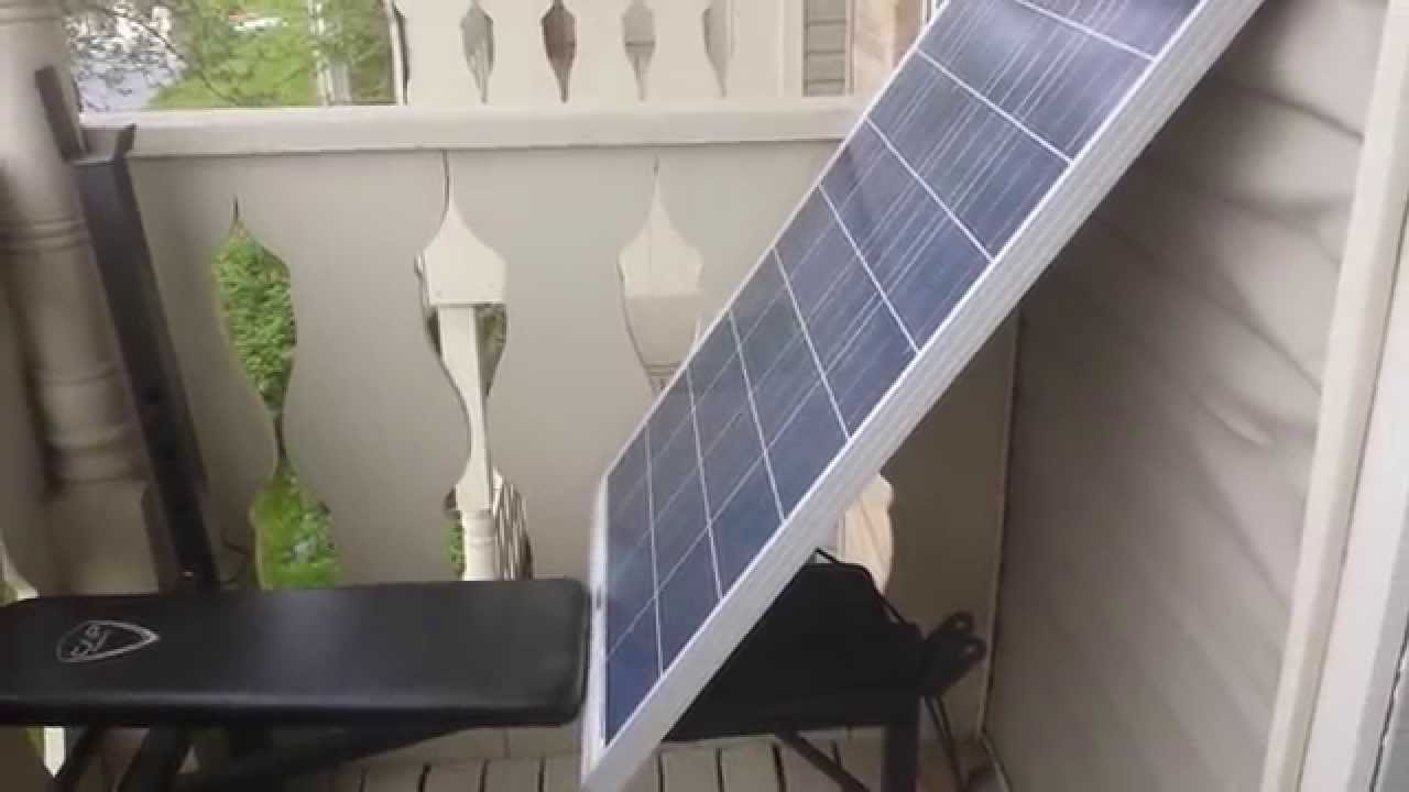 Renewable Apartment Solar Panels In An Apartment Youtube
