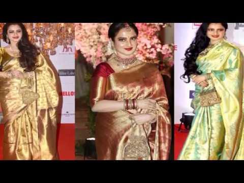 Bollywood Actress Rekha Kanjeevaram Silk Sarees - Silk Sarees - Latest