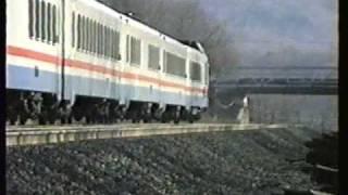 Hudson Line Action at Rush Hour 1990, Amtrak, MNRR, FL-9