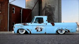 """""""Pistol Annie"""" 1963 Ford Air Bagged Ride Patina Hot Rod Rat Shop Truck FOR SALE"""