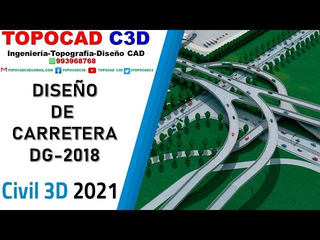 Civil 3D 2019: DISEÑO DE CARRETERA [PLANTILLA PROFESIONAL]