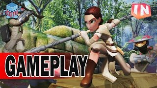 Disney Infinity 3 REY Gameplay The Force Awakens Playset Part 2