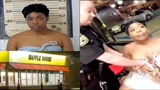 Alabama Woman Tackled & Arrested By Cops Inside Waffle House.