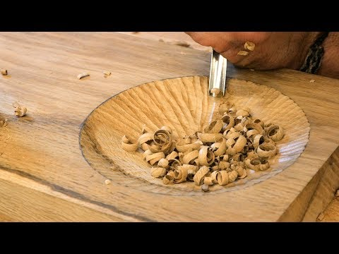 Making A Sofa Arm Table With A Hand Carved Snack Tray