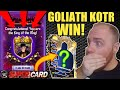 MY DAD GOT ANOTHER GOLIATH KING OF THE RING / KOTR WIN! WHAT REWARDS DID HE GET? WWE SuperCard S4!