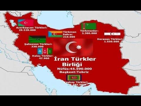 Какова численность и какие Тюркские народы проживают в Иране?