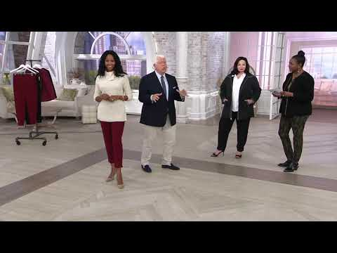 Dennis Basso Luxe Crepe Slim-Leg Pull-On Ankle Pants On QVC