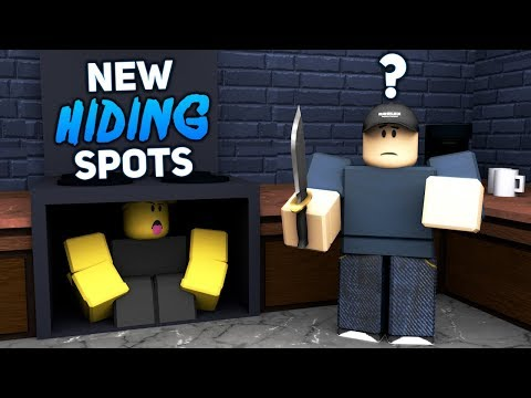 *NEW* Secret Hiding Spots In MM2! (WITH NEW EMOTE)