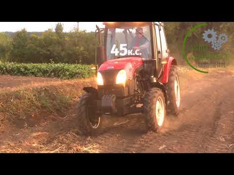 Трактор YTO 454 на пробном тест-драйве