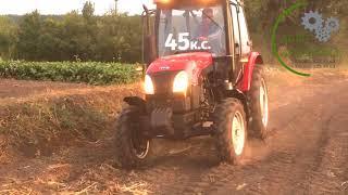 Трактор YTO 454 на пробному тест-драйві