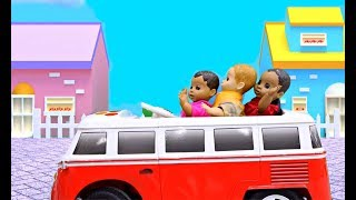 Cute Baby Dolls Ride on Bus