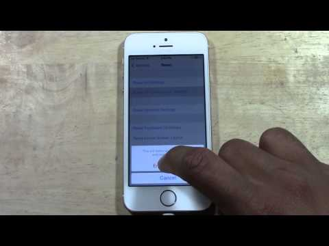 iPhone 5s - How to Reset Back to Factory Settings​​​ | H2TechVideos​​​