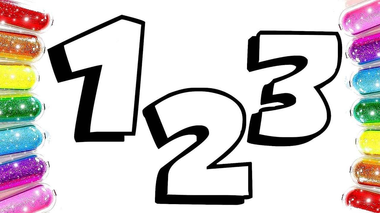 Sayılar Boyama Sayıları öğreniyorum Türkçe Sayılar şarkısı Youtube
