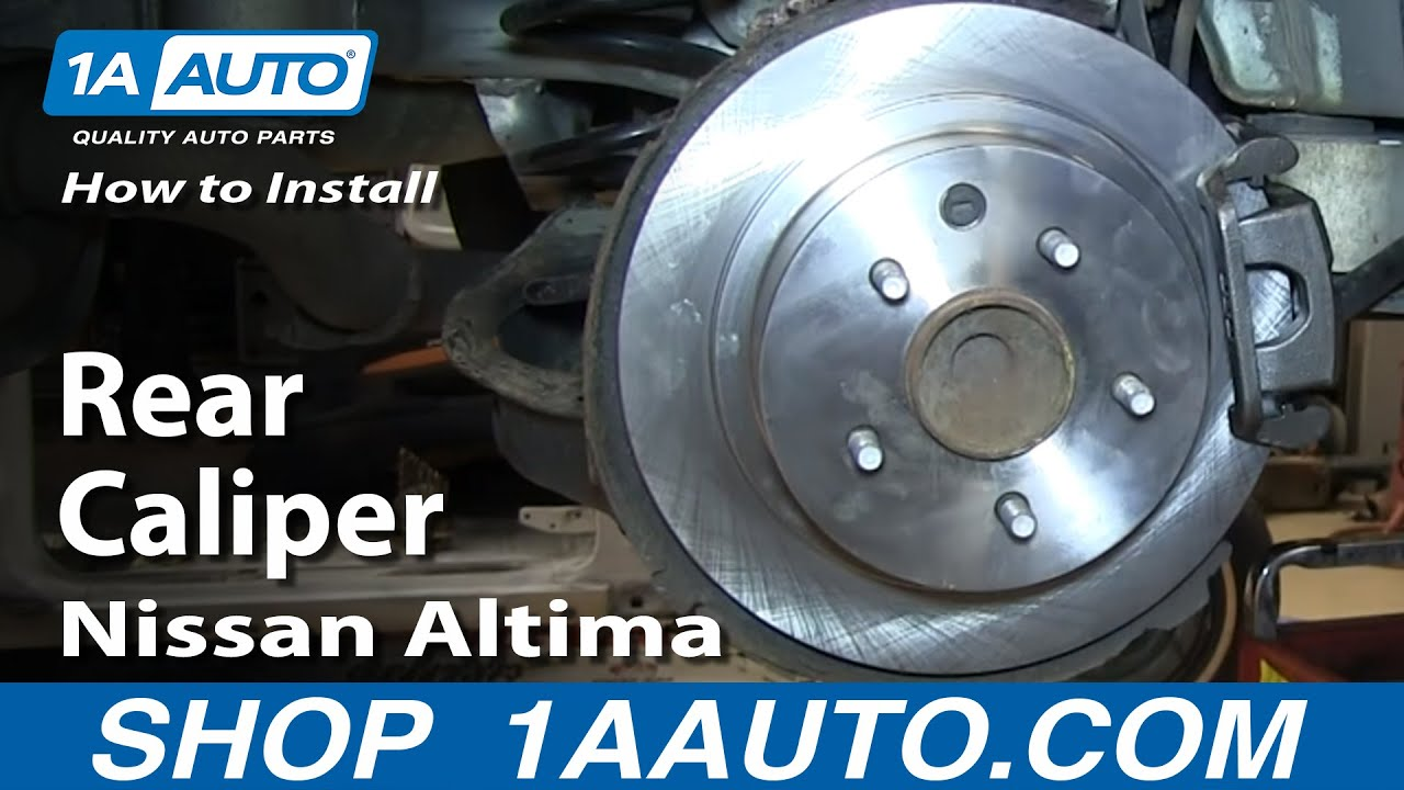 How To Install Replace Stuck Rear Caliper 2002 06 Nissan Altima Rh Youtube  Com Brakes For Nissan Altima 1995 Nissan Altima Rear Calipers