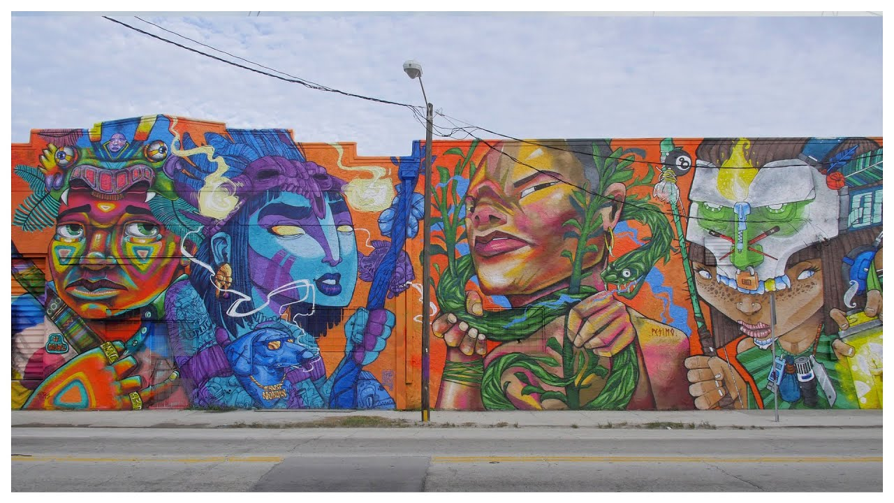 Entes, Pésimo, Oz Montania y Saile - Wynwood Miami 2017