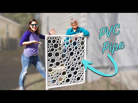 DIY PVC Pipe Privacy Screen // Part 1