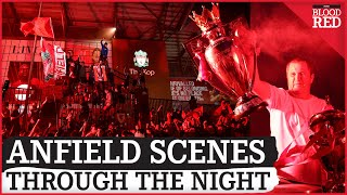 Thousands of Liverpool fans party at Anfield through the night screenshot 5