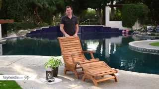 Belham Living Avondale Adirondack Chair And Ottoman - Natural