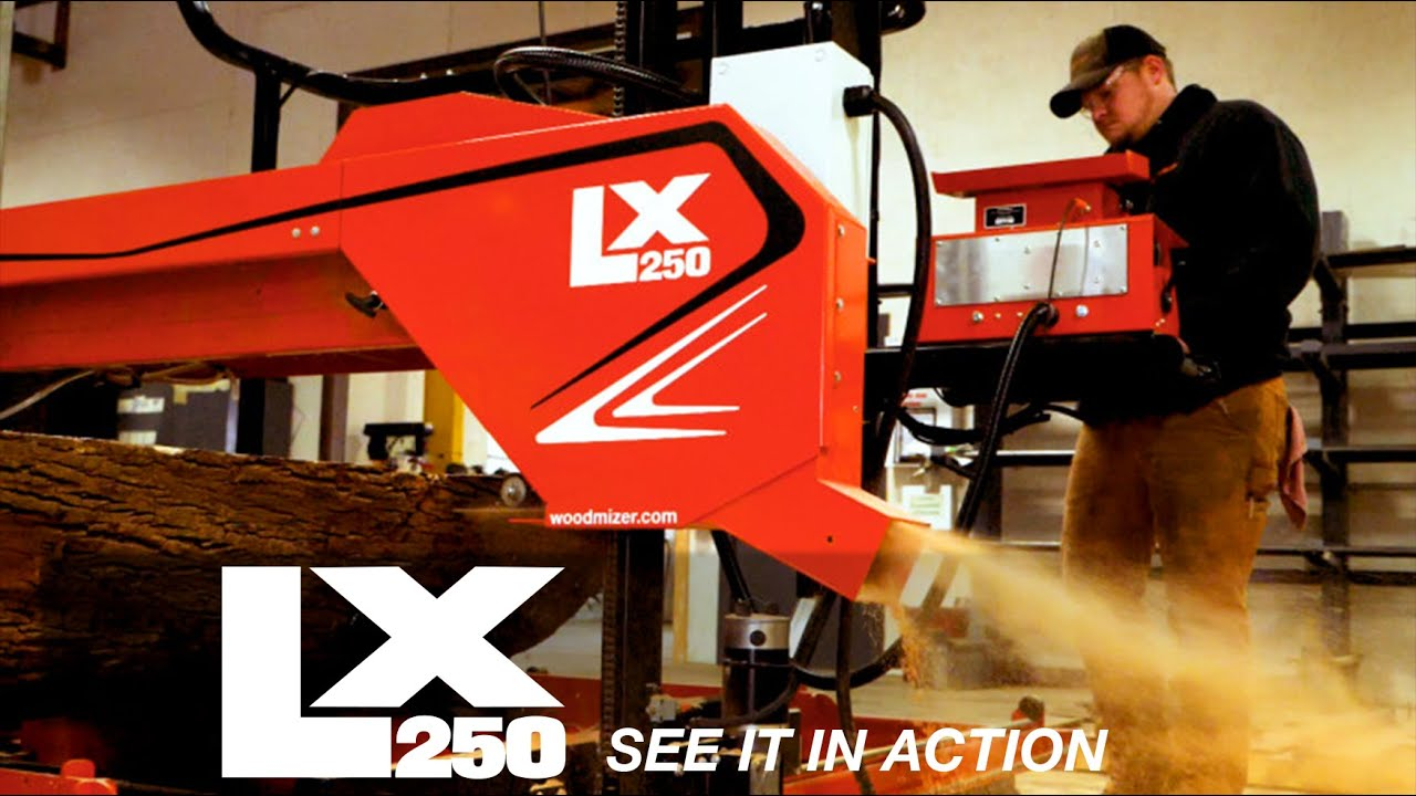 LX250 Wide Slab Sawmill in Action | Wood-Mizer