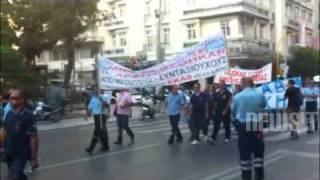 NewsIt.gr: Η πορεία εργαζομένων του ΕΚΑΒ