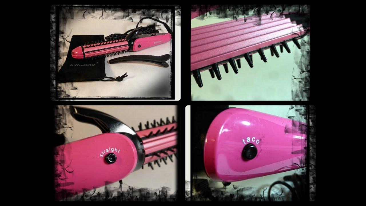 Kiloline 3 In 1 Portable Hair Straightener Flat Iron Crimping Beauty Catok 2 Curling