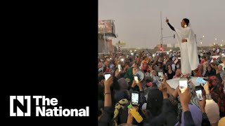 Sudan's 'Nubian Queen' protester becomes iconic image of anti-government demonstratio